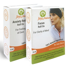 Joybynature Anxiety Relief And Focus Roll On Combo