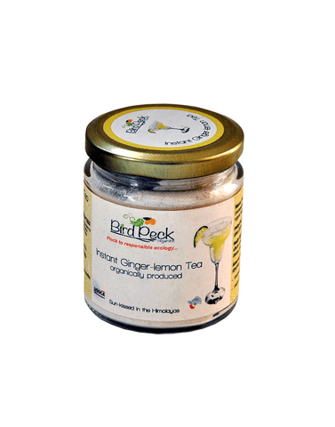 Bird Peck Organics Instant Ginger Lemon Tea 100gm