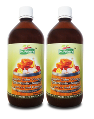 Dr. Patkar's Apple Cider Vinegar with Garlic, Ginger, Lemon and Honey (Pack of 2)