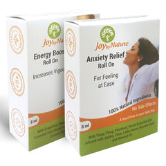 Joybynature Energy Boost And Anxiety Relief Roll On Combo
