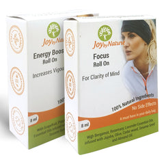 Joybynature Energy Boost And Focus Roll On Combo