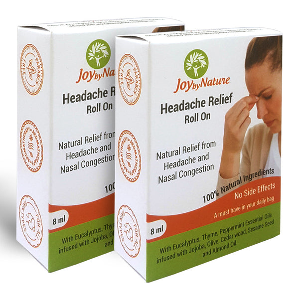 Joybynature Headache Relief Roll On 8ml Pack Of 2