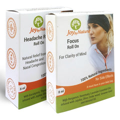 Joybynature Headache Relief Focus Roll On Combo