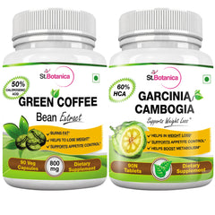 StBotanica Garcinia Cambogia 60% HCA 800mg 90 Tablets + Green Coffee Bean Extract 90 capsules