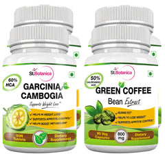 StBotanica Garcinia Cambogia 60% HCA 800mg 90 Tablets + Green Coffee Bean Extract 90 capsules (2+2 Bottles)