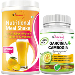 StBotanica Nutritional Meal Shake - Mango + Garcinia Cambogia 60% HCA 800mg 90 Tablets (2 + 2 Bottles)