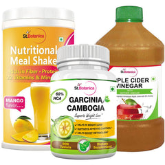 StBotanica Nutritional Meal Shake - Mango + Apple Cider Vinegar + Garcinia Cambogia 60% HCA 800mg 90 Tablets