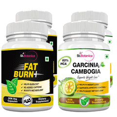 StBotanica Fat Burn+ AND Garcinia Cambogia 60% HCA 800mg 90 Tablets (2+2 Bottles)