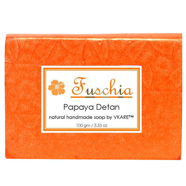 Fuschia Papaya Detan Natural Handmade Herbal Soap 100gm