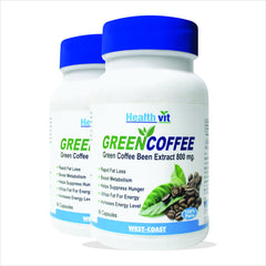 HealthVit Green Coffee Bean Extract 800 Mg (Pack Of 2)