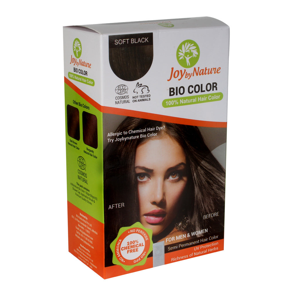 Buy Joybynature Organic Soft Black Hair Color 150gm Best Price