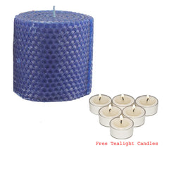 Joybynature Beeswax Candle - Blue