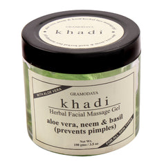 Face Care - Khadi Natural Face Massage Aloevera, Neem & Basil Gel 100gm
