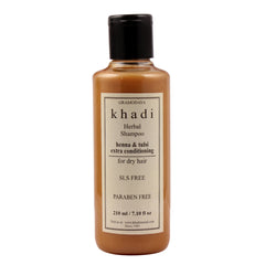 Khadi Natural Herbal Henaa Tulsi Extra Conditioning Shampoo Sls & Paraben Free 210ml