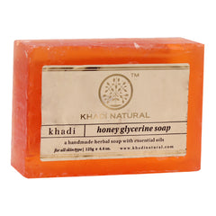 Soaps - Khadi Natural Honey Glycerine Soap 125gm