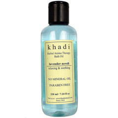 Khadi Natural Lavender Neroli Bath Aroma Therapy Oil Without Mineral Oil 210ml