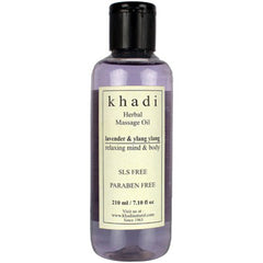 Khadi Natural Lavender & Ylang Ylang Massage Oil 210ml
