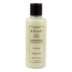Khadi Natural Neem & Aloevera Herbal Shampoo Sls & Paraben Free 210ml