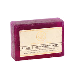 Soaps - Khadi Natural Pure Lavender Soap 125gm
