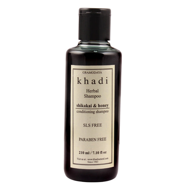 Khadi Natural Shikakai & Honey Shampoo Sls & Paraben Free 210ml
