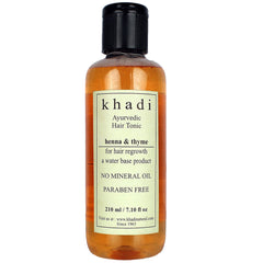 Khadi Natural Thyme Henna Hair Tonic 210ml
