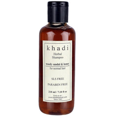 Khadi Natural Woody Sandal & Honey Herbal Shampoo Sls & Paraben Free 210ml