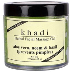 Khadi Natural Herbal Facial Massage Gel Aloe Vera Neem And Basil 100ml