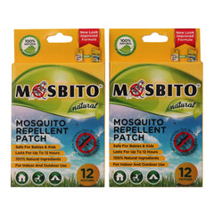 Mosquito Repellant - Mosbito Mosquito Repellent 12 Patch Pack Of 2 ( 24 Patches )