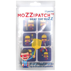 MoZZipatch Mosquitto Repellent Patch Super Girl Set of 12 Patches