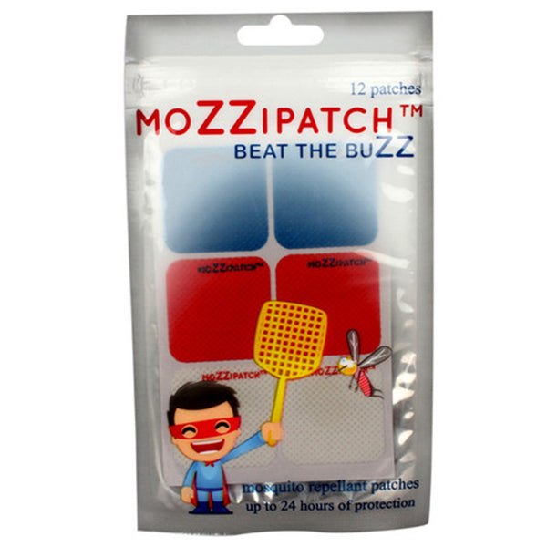 MoZZipatch Mosquitto Repellent Core Colour Patch Set of 12 Patches