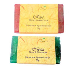 Soil Handmade Ayurvedic Soap Rose And  Neem 150g