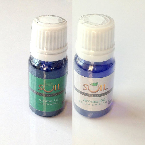 Soil Aroma Oil Eucalyptus And Green Apple 10ml Each