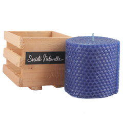 Societe Naturelle Beeswax Candle - Blue