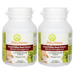 Joybynature Green Coffee Bean Extract With 50% CGA 600mg - 60 Capsule (Pack of 2)