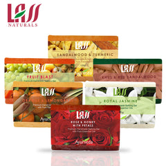 Lass Naturals 6 Soap Bars Gift Set For Family