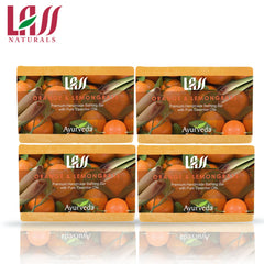 Lass Naturals Orange Lemongrass Soap -(Pack of 4)