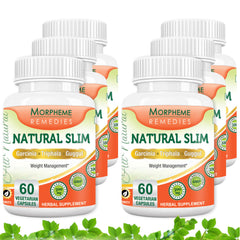 Morpheme Natural Slim (Garcinia) For Weight Loss 500mg Extract 60 Veg Capsules (6 Bottles)