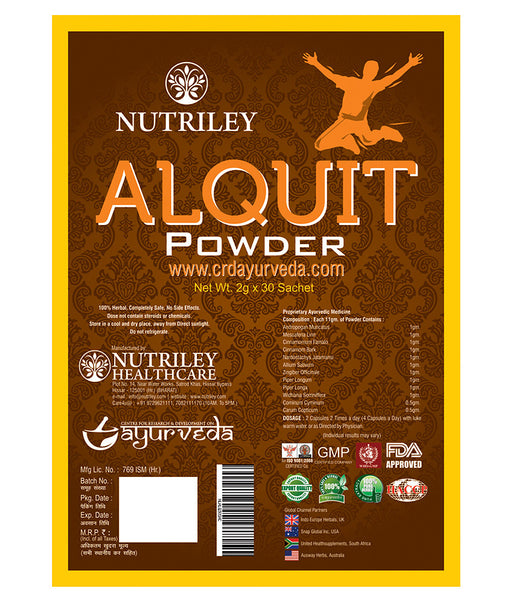 CRD Ayurveda Alquit - Alcohol Addiction Powder (30 Sachets)
