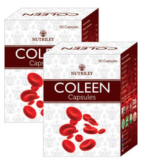 CRD Ayurveda Coleen - Iron Supplement Capsules (60 Caps) - Pack of 2