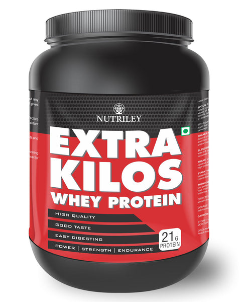 Nutriley Extra Kilos - Body Weight / Muscle Gainer Whey Protein Supplement (1 KG)