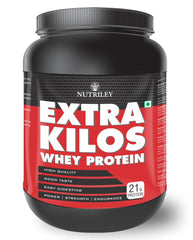 Nutriley Extra Kilos - Body Weight / Muscle Gainer Whey Protein Supplement (500 Gms)