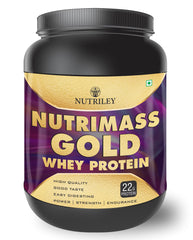 Nutriley Nutrimass Gold - Body/Muscle Gainer Whey Protein Supplement (1 KG)