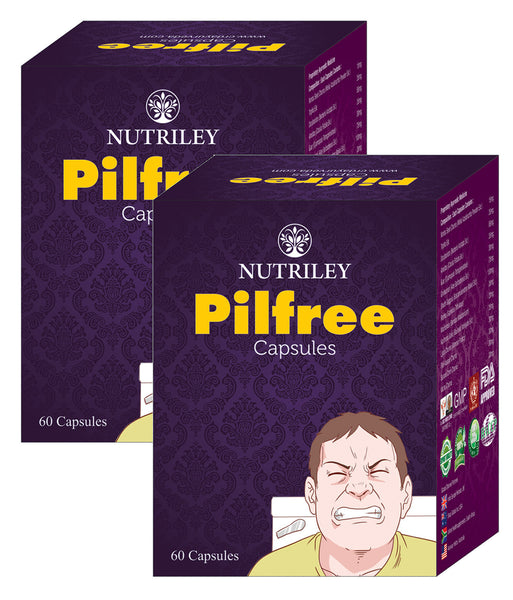 CRD Ayurveda Pilfree - Piles Care Capsules (60 Capsules) - Pack of 2