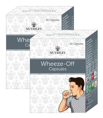 CRD Ayurveda Wheeze-Off -  Cough and Cold Care Capsules (60 Capsules)- Pack of 2