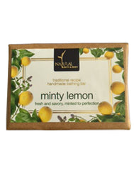 Natural Bath & Body Minty Lemon Bathing Bar 125gm