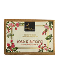 Natural Bath & Body Rose & Almond Bathing Bar 125gm