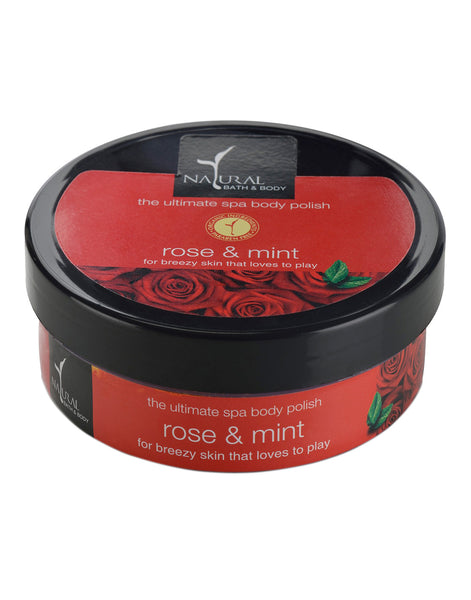 Natural Bath & Body Rose & Mint The Ultimate Spa Body Polisher 200gm
