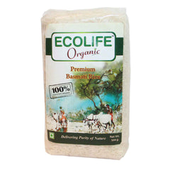 Ecolife Organic Fair Trade Organic Premium Basmati Rice 500gm