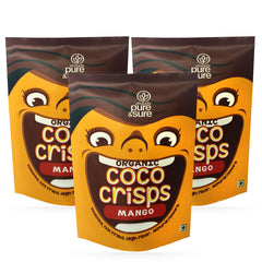 Pure & Sure Organic Coco Crisps Mango (Pack of 3)