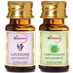 StBotanica Lavender And Lemongrass Pure Essential Oil 10ml Each